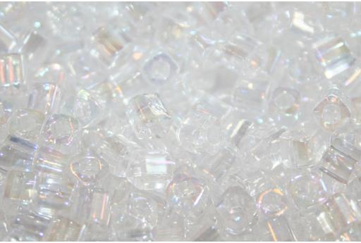 Perline Toho Cubo Trans Rainbow Crystal 4mm - 10gr