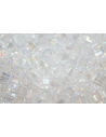 Toho Cube Beads 4mm, 10gr., Trans Rainbow Crystal