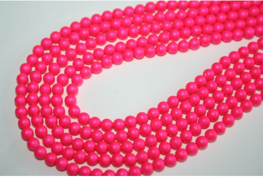 Swarovski Pearls 5810 Neon Pink 4mm - 20pcs