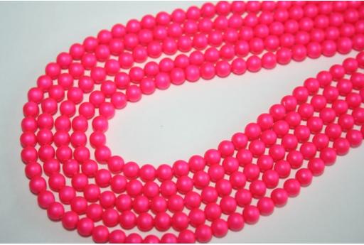 Swarovski Pearls 5810 Neon Pink 4mm - 20pcs