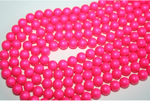 Swarovski Pearls 5810 6mm Neon Pink - 12pcs