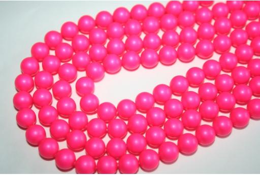 Perle Swarovski Neon Pink 5810 8mm - 8pz