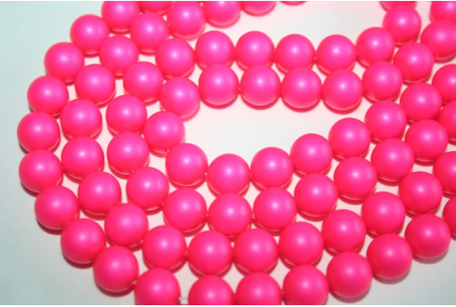 Swarovski Pearls Neon Pink 5810 10mm - 4pcs