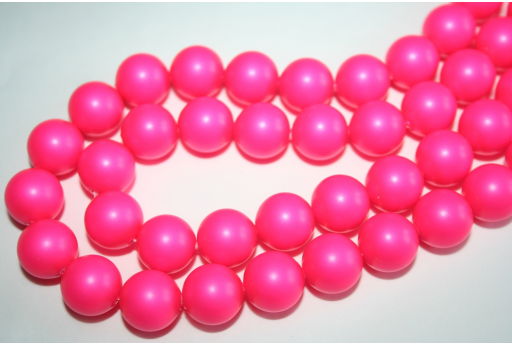 Swarovski Pearls 5810 12mm Neon Pink - 2pcs