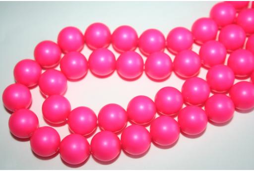 Swarovski Pearls 5810 12mm Neon Pink - 2pcs