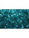 Toho Bugle Beads 3mm, 10gr., Trans Capri Blue