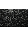 Toho Bugle Beads 3mm, 10gr., Opaque Frosted Jet