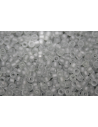 Toho Seed Beads 8/0, 10gr., Transparent Frosted Light Gray Col.9F