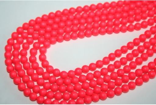 Swarovski Pearls 5810 Neon Red 4mm - 20pcs
