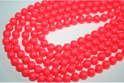 Swarovski Pearls 5810 6mm Neon Red - 12pcs