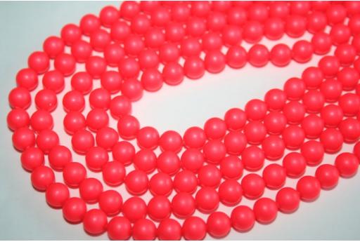 Swarovski Pearls 5810 6mm Neon Red - 12pcs