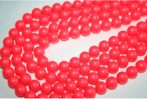 Perle Swarovski Neon Red 5810 8mm - 8pz