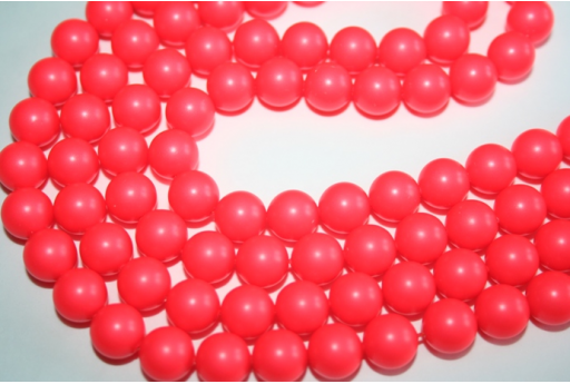 Swarovski Pearls Neon Red 5810 10mm - 4pcs