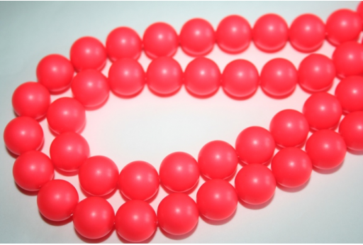 Swarovski Pearls 5810 12mm Neon Red - 2pcs
