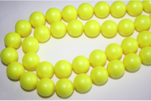 Swarovski Pearls 5810 12mm Neon Yellow - 2pcs