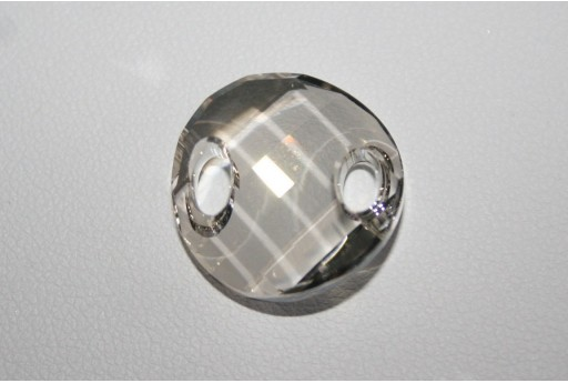 Twist Sew-On Swarovski Crystal Silver Shade 18mm S322118SHA
