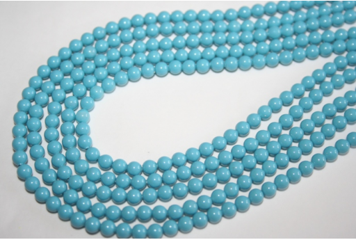 Swarovski Pearls 5810 Turquoise 4mm - 20pcs
