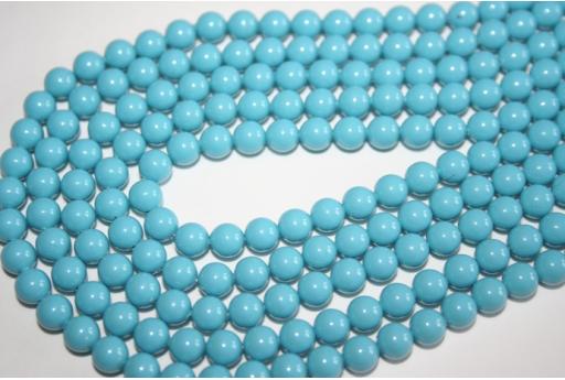 Perle Swarovski 5810 Turquoise 6mm - 12pz