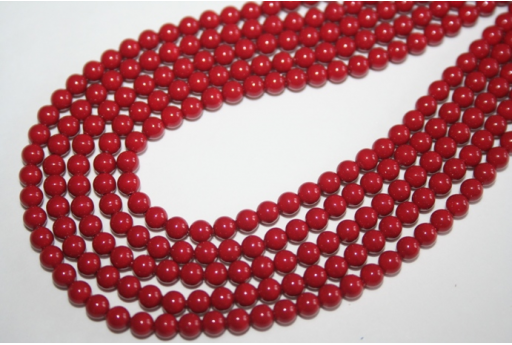 Swarovski Pearls 5810 Red Coral 4mm - 20pcs