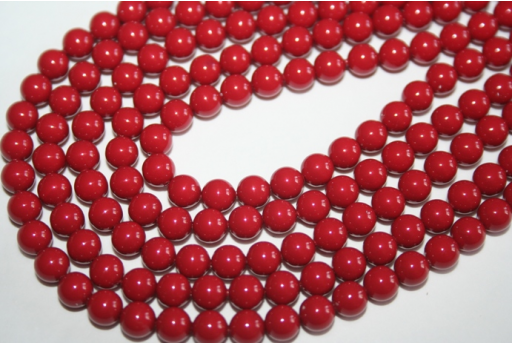 Perle Swarovski 5810 6mm Red Coral - 12pz
