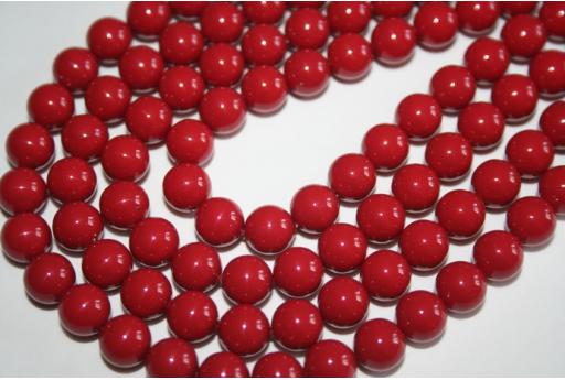 Swarovski Pearls Red Coral 5810 8mm - 8pcs