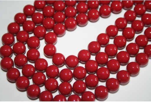 Perle Swarovski Red Coral 5810 8mm - 8pz