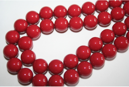 Swarovski Pearls 5810 12mm Red Coral - 2pcs