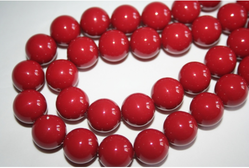 Perle Swarovski 5811 Red Coral 14mm - 2pz