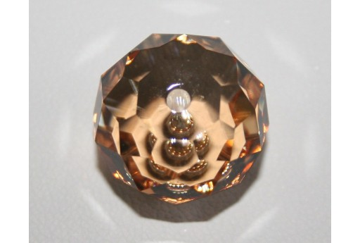 Briolette Bead Swarovski Crystal Golden Shadow 18mm S504018GSHA