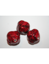 Acrylic Beads Red Convex Sphere 23mm - 6Pz