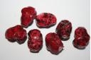 Perline Acrilico Rosso Sasso 18x14mm - 14pz
