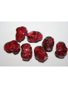 Acrylic Beads Red Rock 18x14mm - 14pz