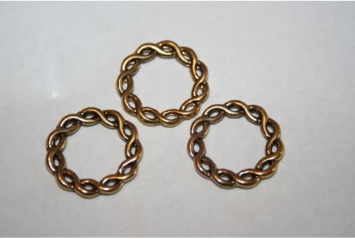 Antique Gold Tibetan Silver Ring Connectors 20,5mm - 6pcs