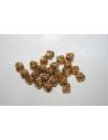 Bicono Argento Tibetano Colore Oro 7x6,5mm - 12pz