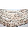 Skull Beige Turquoise Beads 12x10mm 5pcs TUR9AA