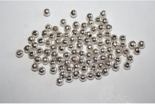 Platinum Plated Round Spacer Beads 3mm - 3g