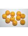 Perline Acrilico Giallo Sfera 14mm - 25pz