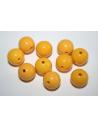 Perline Acrilico Giallo Sfera 14mm - 25pz
