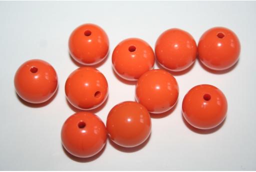 Perline Acrilico Arancio Sfera 14mm - 25pz