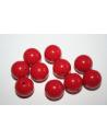 Perline Acrilico Rosso Sfera 14mm - 25pz