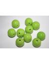 Perline Acrilico Verde Chiaro Sfera 14mm - 25pz