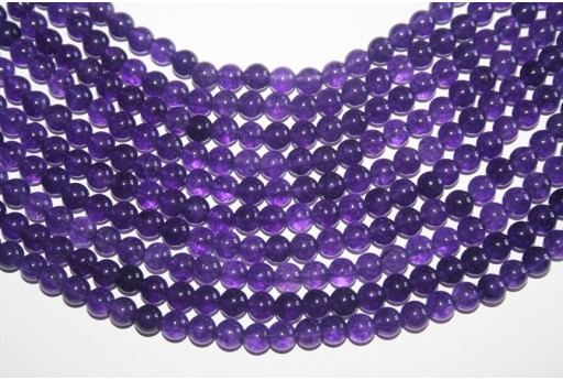 Jade Beads Amethyst Sphere 6mm - 64pz