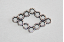 Connettori Argento Tibetano 29,5x19mm - 4pz