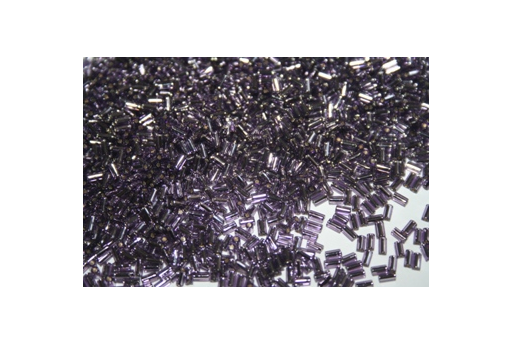 Toho Bugle Beads 3mm, 10gr., Silver Lined Tanzanite COBG17
