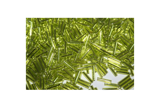 Toho Bugle Beads 9mm, 10gr., Lime Green COBG26