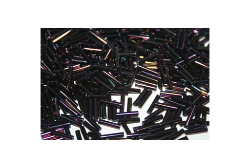 Toho Bugle Beads 9mm, 10gr., Metallic Iris Purple COBG29