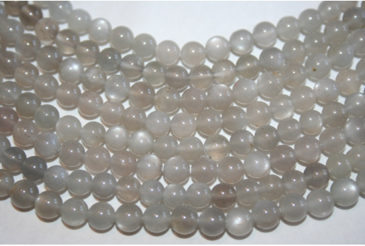 Moonstone Beads Grey Sphere 6mm - 4pz