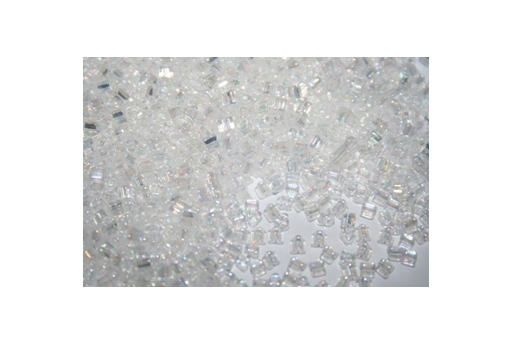 Toho Triangle Beads 8/0, 10gr., Trans-Rainbow Crystal TT161