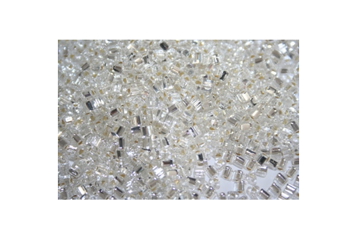 Toho Triangle Beads 8/0, 10gr., Silver-Lined Crystal TT21