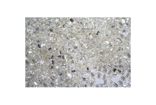 Perline Toho Triangoli 8/0, 10gr., Silver-Lined Crystal TT21